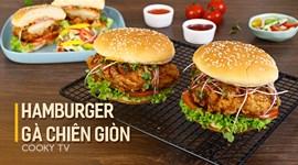 Hamburger gà chiên giòn