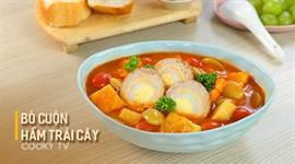 Bò cuộn hầm trái cây