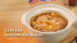 Gà Mỹ Hầm Nhân Sâm Wisconsin Mỹ