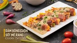 Thịt Nguội Serrano Cuộn Nước Sốt Mè Rang