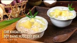 Chè Khoai Lang Bột Báng Nước Cốt Dừa