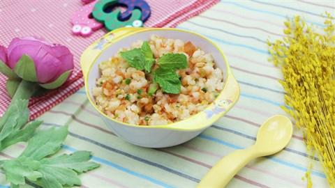 Cách làm cơm xay tôm rim cho bé