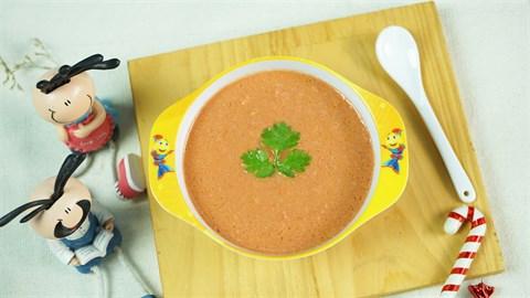 Súp thịt bò cà chua cho bé
