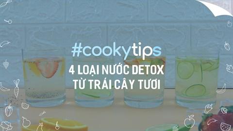 4 loại nước Detox từ trái cây tươi