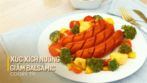Xúc xích nướng giấm Balsamic