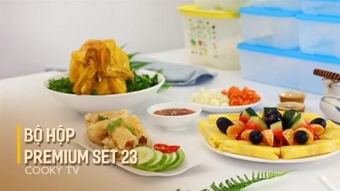 Bảo quản món tết với bộ hộp Premium set 23